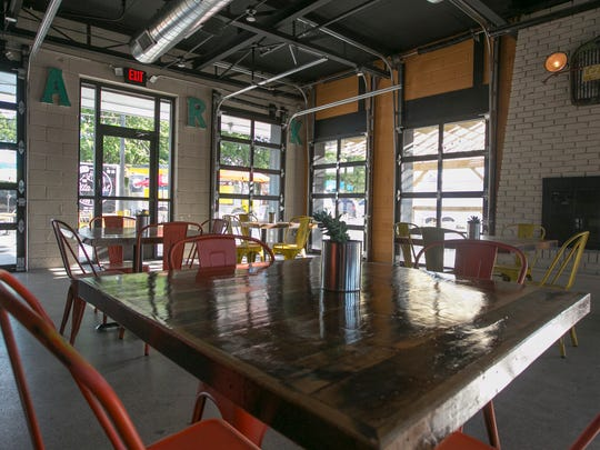 Detroit Fleat, Food Truck Park and Boozery prepares for a July 5 opening, with Delectabowl, Pita Post, Mac Shack and Drifter Coffee as permanent fixtures Thursday, June 8, 2017 in Ferndale.