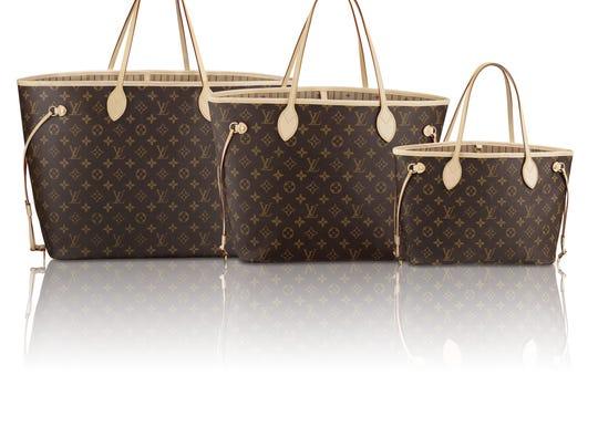 Louis Vuitton bags.