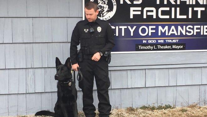 Officer Zachary Miller with K9 Dani