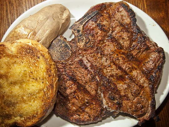 A T-bone off the grill at the Iowa Beef Steakhouse is just one of the choices at the Oak Park steakhouse.