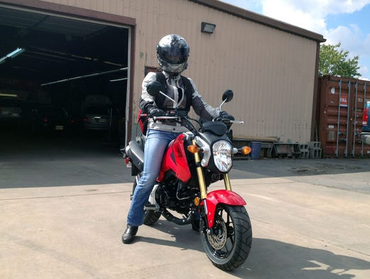 USA TODAY's Andria Yu takes Honda's new 125cc Grom for a spin around the Baltimore area.