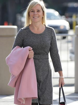 Gov. Chris Christie's former Deputy Chief of Staff Bridget Anne Kelly arrives at Martin Luther King Jr. Federal Court Wednesday in Newark.