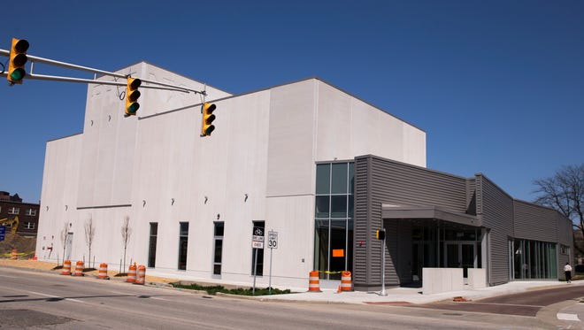 The Phoenix Theater Cultural Center, newly built at the corner of West Walnut and North Illinois Streets, Indianapolis, Friday, April 27, 2018.