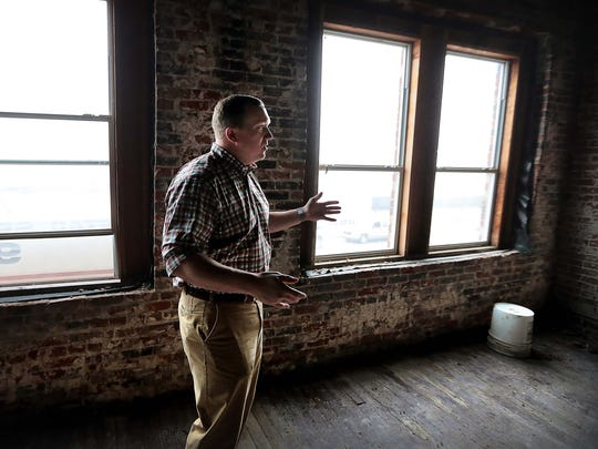 J.D. Graffam, founder of the Germantown-based firm Simple Focus, talks about some of the renovations planned as the firm moves it's headquarters to a 107-year-old space on Broad Avenue.