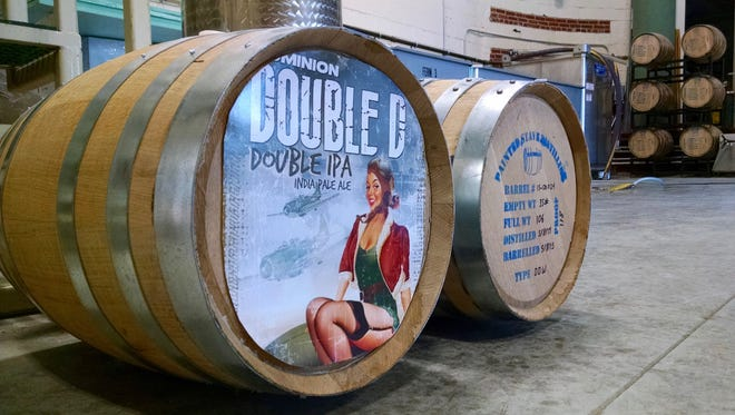 Painted Stave Distilling in Smyrna and Fordham & Dominion Brewing Co. in Dover will release the first batch of Double TroubleD, their beer and whiskey mashup, on April 23.