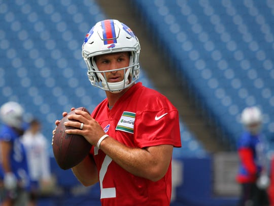 It's possible that rookie Nathan Peterman could be