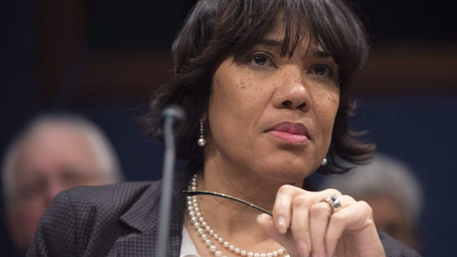 Mayor Karen Weaver of Flint testifies about the lead levels found in Flint's water supply during a House Democratic Steering and Policy Committee hearing on Capitol Hill in Washington on Wednesday.