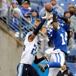 Titans cornerback Coty Sensabaugh (24) and the rest of the Titans' secondary have given up four completions of more than 40 yards in the first three games.