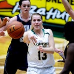 Colorado State's Ellen Nystrom passes the ball in a game against Nevada last year. The Rams host Nevada at 7 p.m. Tuesday and will clinch a share of the Mountain West title with a win.