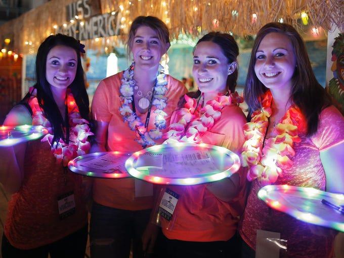 Cabana girls, from left, Ali Wyant, Britney Brosten,