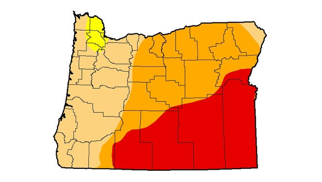 Drought Monitor for Oregon.