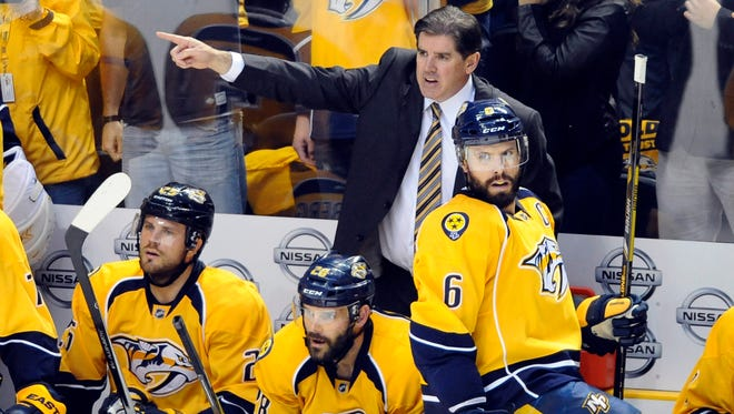 Peter Laviolette deserves a lot of credit for how much the Predators improved this season.
