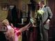 Madeline Kahn as Lili Von Shtupp with feet on dressing
