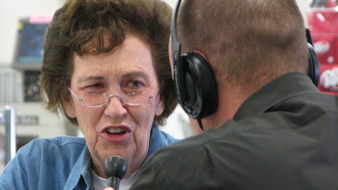 This year's St Jude Radiothon is dedicated to the memory of the late Tommy Dean Hearne, shown here speaking on the radio at a previous year's event.