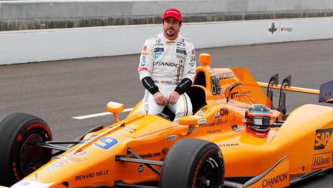 Fernando Alonso at the 2017 Indianapolis 500.