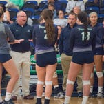Pensacola State volleyball coach Chris Laird and his team outlasted Gulf Coast State College to advance to the state JUCO volleyball tournament.