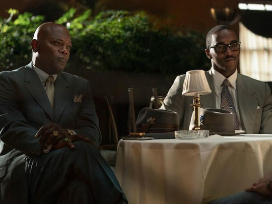 """Samuel L. Jackson and Anthony Mackie in """"The Banker."""""""
