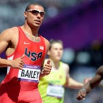 Sep 3, 2011; Daegu, SOUTH KOREA; Matthew Centrowitz (USA) takes a victory lap with a United States flag after finishing third in the 1,500m in 3:36.08 on Day 8 of the 2011 IAAF World Championships in Athletics at Daegu Stadium. Mandatory Credit: Kirby Lee/Image of Sport-US PRESSWIRE