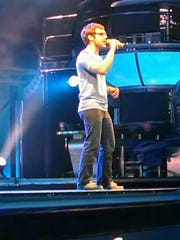 """Wesley Armstrong performs at the """"American Idol Experience,"""" a theme park attraction in Orlando that resembles the television series. Armstrong was a runner up. He will be trying out for """"American Idol"""" this Sunday."""