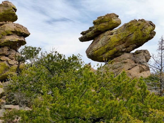 Duck on a Rock is one of the distinctive formations on Heart of Rocks Loop at Chiricahua National Monument.