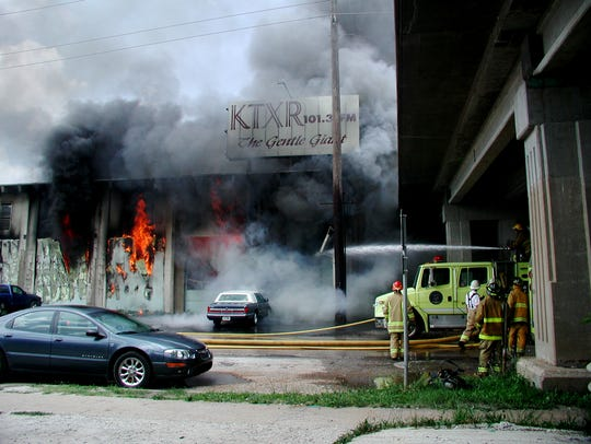 Springfield firefighters battle a warehouse fire at