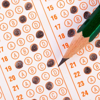 Standardized testing bubblesheet