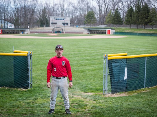Wapahani coach Brian Dudley at the school's baseball
