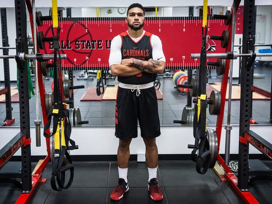 Ball State's Franko House at Worthen Arena Wednesday