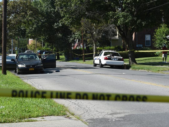 City of Poughkeepsie police responded to a shooting on South Grand Avenue Tuesday, Aug. 9.