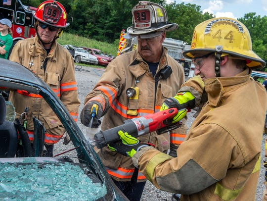 Firefighters with York Area United Fire and Rescue,