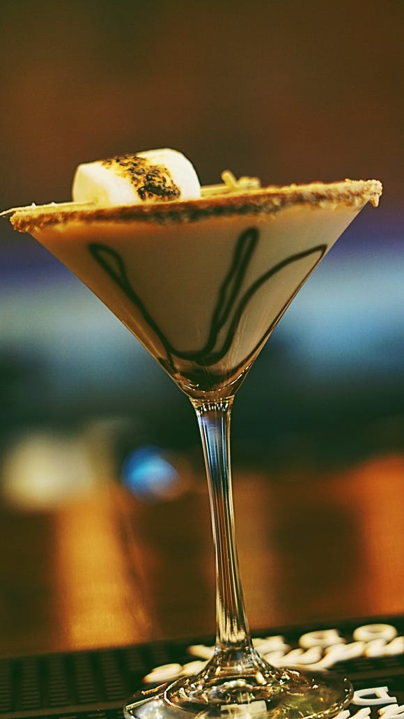 The S'mores martini at encore Gastrolounge.