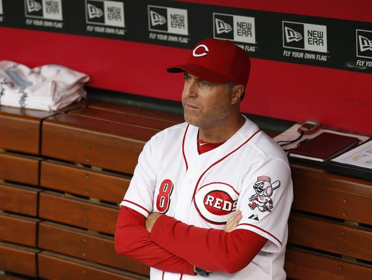 The Cincinnati Reds manager Bryan Price (38) waits