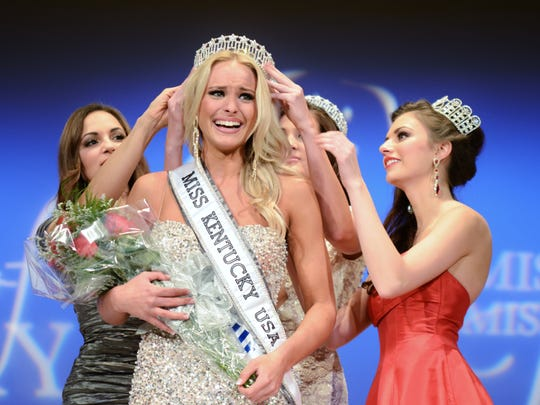 Katie George wins Miss Kentucky USA in January 2010.