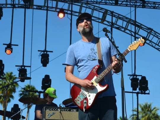 Built to Spill performs at the Coachella Music and Arts Festival in Indio, California, on Sunday, April 12, 2015.