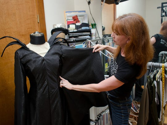 LaVonne French works on a Maleficent cosplay at her home in Gulf Breeze. Costuming is a major part of fandom for French.