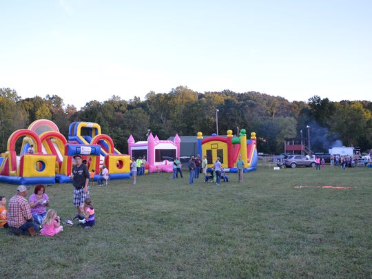 Bounce houses were a fun replacement for missing carnival
