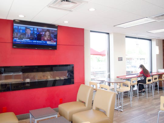The Wendy's restaurant on E. McGalliard Road was remodeled