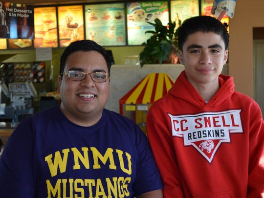 Abe Villareal 'big brother' to James Gonzales age 13.