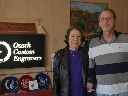 Julie and Sam Horner own Ozark Custom Engravers which