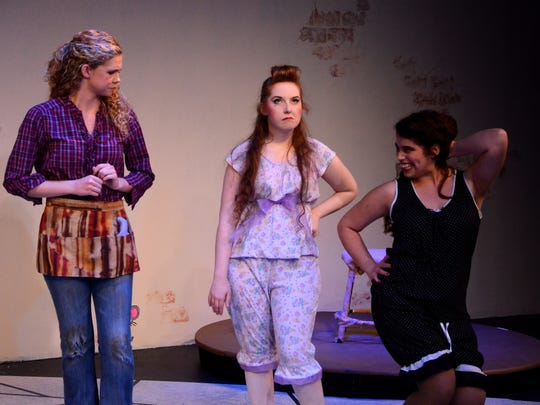 "From left are Devaune Bohall, Alexandra Utpadel and Alexis Briviesca in ""Cinderella"" at Theatre Artists Studio."
