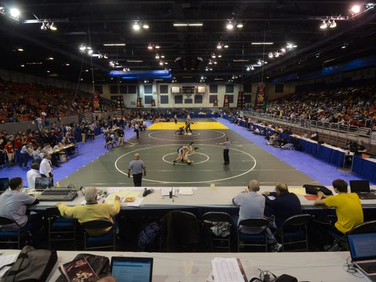Kellogg Arena was the site of the MHSAA Team Wrestling