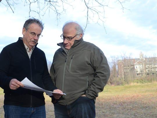 Vermont Land Trust President Gil Livingston, left,