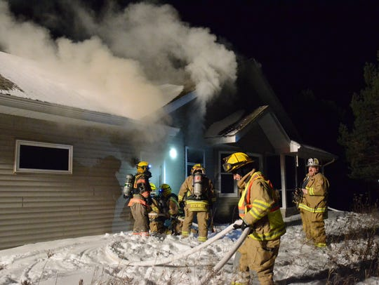 Six fire departments turned out to help with fire at