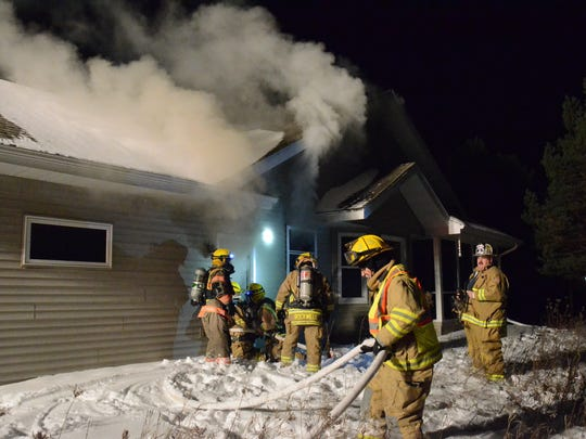 Six fire departments turned out to help with fire at a Fish Creek home Sunday night.