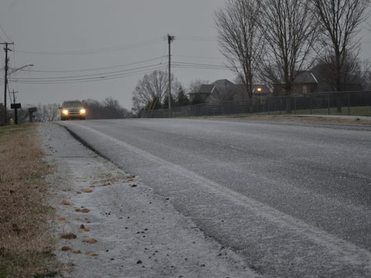 Most Sumner County roads were covered by a thin layer