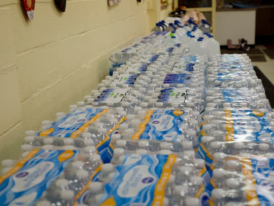 Water collected Thursday at Avoca Community Hall by