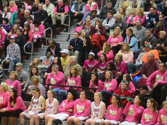 Fans were encouraged to wear pink to Thursday evening's
