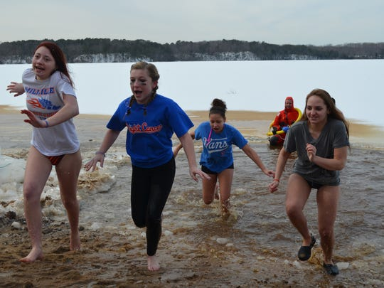 13th annual Snowflake Swim at Union Lake in Millville.