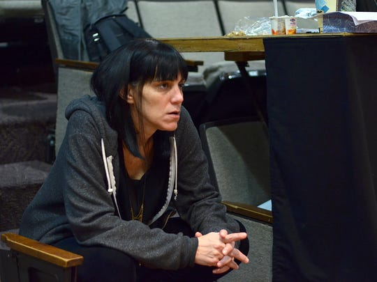 """Director Leigh Silverman in rehearsal for Hansol Jung's """"Cardboard Piano,"""" part of the 2016 Humana Festival of New American Plays at Actors Theatre of Louisville."""
