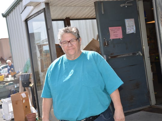 Peg Green is the manager of New Life thrift shop in